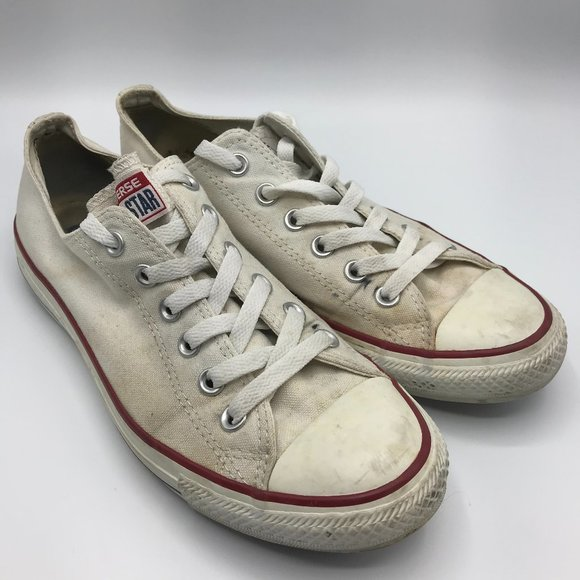 White Low-Rise Converse Sneakers